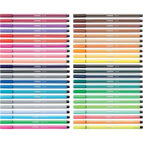 Fasermaler Pen 68 1mm Rundspitze ultramarinblau Stabilo 68/32 Produktbild Additional View 3 L
