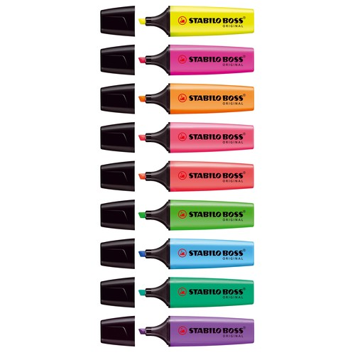 Textmarker Boss Original 70 2-5mm Keilspitze blau Stabilo 70/31 Produktbild Additional View 3 L