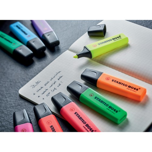 Textmarker Boss Original 70 2-5mm Keilspitze blau Stabilo 70/31 Produktbild Additional View 6 L