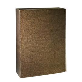Geschenkkarton Couro braun-gold  270x90x360mm / Für 3 Flaschen Produktbild