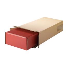Versandkarton Geschenkverpackung braun D: 90mm / Höhe: 380mm / 2 Flaschen Produktbild