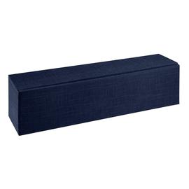 Geschenkkarton Scala dunkelblau 90 x 90 x 380mm / Für 1 Flasche liegend Produktbild