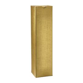 Geschenkkarton Scala gold matt 90 x 90 x 360mm / Für 1 Flasche Produktbild