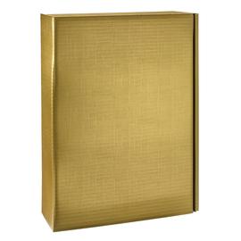 Geschenkkarton Scala gold matt 270 x 90 x 360mm / Für 3 Flaschen Produktbild