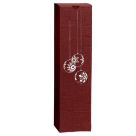 Geschenkkarton Scala bordeaux 90 x 90 x 360mm / Für 1 Flasche Produktbild