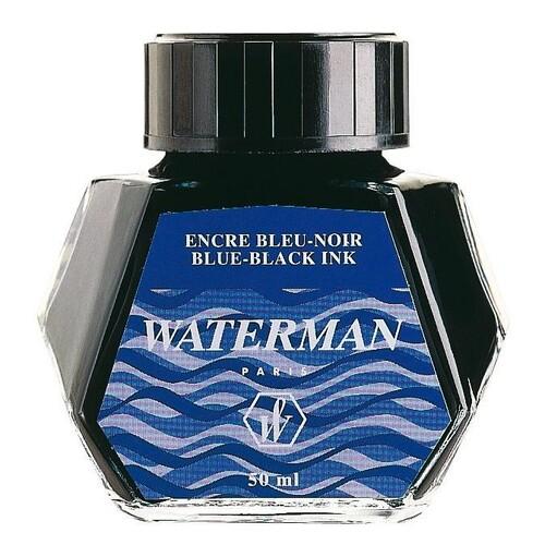 Tinte im Glas Standard 50ml Mysterious blue Waterman S0110790 Produktbild Front View L