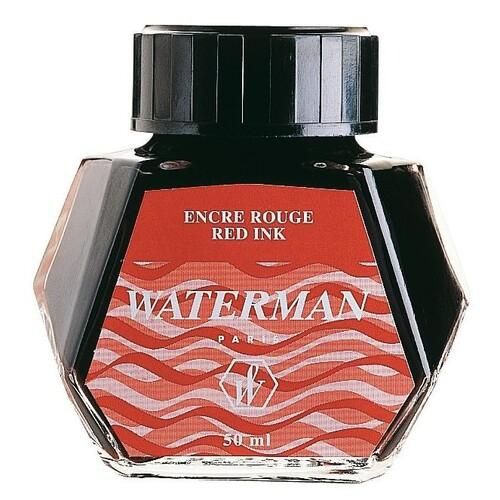 Tinte im Glas Standard 50ml Audacious red Waterman S0110730 Produktbild Front View L
