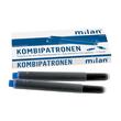 Tintenpatrone für Füllhalter Kombi königsblau Milan 366 (PACK=5 STÜCK) Produktbild