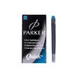 Tintenpatrone QUINK Z44 auswaschbar und löschbar königsblau Parker 1950383 (PACK=5 STÜCK) Produktbild