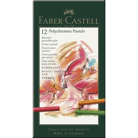 Pastellkreiden POLYCHROMOS Kartonetui farbig sortiert Faber Castell 128512 (ETUI=12 STÜCK) Produktbild