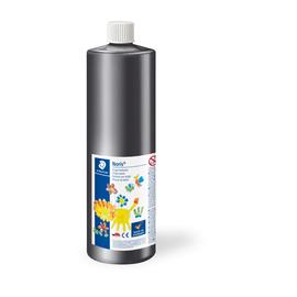 Fingermalfarbe Noris Club Mali 750ml schwarz schnelltrocknend auswaschbar Staedtler 8811-9D Produktbild