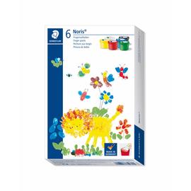 Fingermalfarben Noris Club Mali 6x100ml farbig sortiert schnelltrocknend auswaschbar Staedtler 8816D (PACK=6 STÜCK) Produktbild