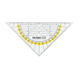 Geodreieck 16cm transparent Milan 555 Produktbild