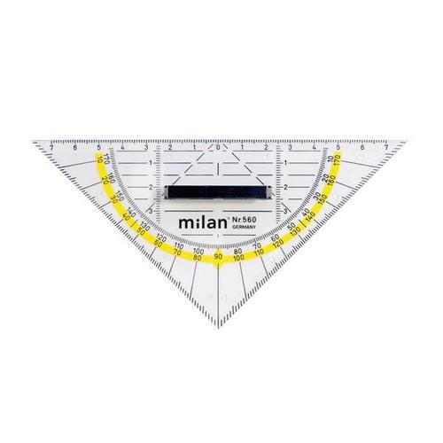 Geodreieck mit abnehmbarem Griff 16cm transparent Milan 560 Produktbild Front View L