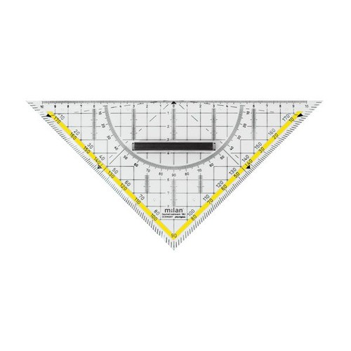 Geodreieck mit abnehmbarem Griff groß 22cm transparent Milan 562 Produktbild Additional View 1 L