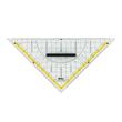 Geodreieck mit abnehmbarem Griff groß 22cm transparent Milan 562 Produktbild