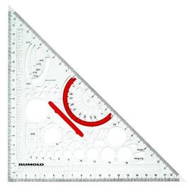 Techno-Dreieck mit abnehmbarem Griff transparent Rumold 354210 Produktbild
