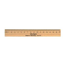 Lineal 17cm natur Holz Milan 517 Produktbild