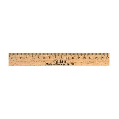 Lineal 17cm natur Holz Milan 517 Produktbild Front View L