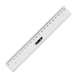 Lineal 20cm transparent Kunststoff BestStandard 1820 Produktbild