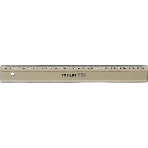 Lineal 30cm transparent Kunststoff Milan 531-30 Produktbild Front View L