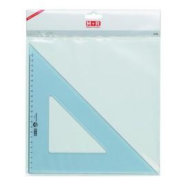 Zeichendreieck 25cm 45° transparent M+R 747250030 Produktbild