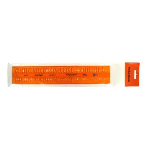 Schriftschablone Isonorm gerade Mittelschrift Schrifthöhe 7,0mm Standardgraph 2524/7 Produktbild Front View L