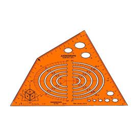 Axonograph-Schablone Isometric für 0,5mm Stifte Standardgraph 1158 Produktbild