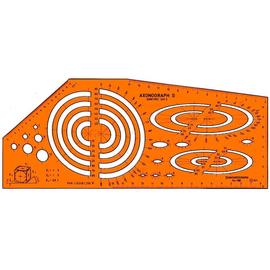 Axonograph II Schablone Dimetric für 0,5mm Stifte Standardgraph 1185 Produktbild