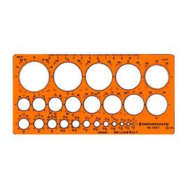 Kreis-Schablone 25 Kreise ø 1-36mm ohne Tuschefacette für 0,5mm Stifte 200x100x1,3mm Standardgraph 1316 Produktbild