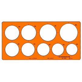 Kreis-Schablone 9 Kreise ø 38-60mm für 0,5mm Stifte Standardgraph 1325 Produktbild
