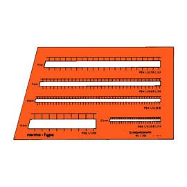 Beschriftungslineal normo-type für 0,25/0,35/0,5/0,7/1,0mm Stifte Standardgraph 4260 Produktbild