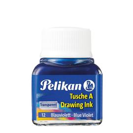 Zeichen-Tusche Glas mit Pose 10ml blauviolett 12 Pelikan 201616 (GL=10 MILLILITER) Produktbild