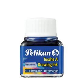 Zeichen-Tusche Glas mit Pose 10ml ultramarin 9 Pelikan 201582 (GL=10 MILLILITER) Produktbild