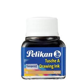 Zeichen-Tusche Glas mit Pose 10ml sepia 15 Pelikan 201640 (GL=10 MILLILITER) Produktbild