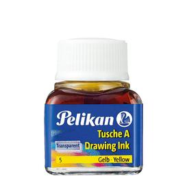 Zeichen-Tusche Glas mit Pose 10ml gelb 5 Pelikan 201541 (GL=10 MILLILITER) Produktbild