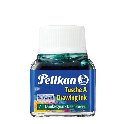 Zeichen-Tusche Glas mit Pose 10ml grün dunkel 7 Pelikan 201566 (GL=10 MILLILITER) Produktbild