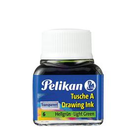 Zeichen-Tusche Glas mit Pose 10ml grün hell 6 Pelikan 201558 (GL=10 MILLILITER) Produktbild