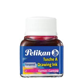 Zeichen-Tusche Glas mit Pose 10ml karmin 2 Pelikan 201517 (GL=10 MILLILITER) Produktbild