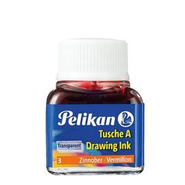 Zeichen-Tusche Glas mit Pose 10ml zinnober 3 Pelikan 201525 (GL=10 MILLILITER) Produktbild