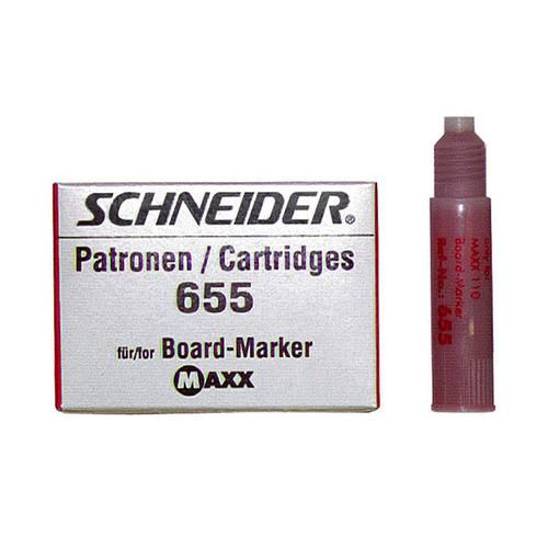 Whiteboardmarker-Nachfüllpatrone 655 für Maxx Eco 110 rot Schneider 165502 (PACK=3 STÜCK) Produktbild Front View L