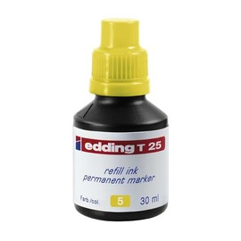 Permanentmarker-Nachfülltusche T25 30ml gelb Edding 4-T25005 (ST=30 MILLILITER) Produktbild