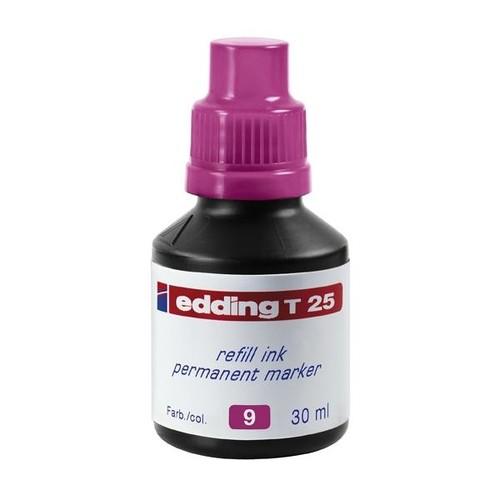 Permanentmarker-Nachfülltusche T25 30ml rosa Edding 4-T25009 (ST=30 MILLILITER) Produktbild