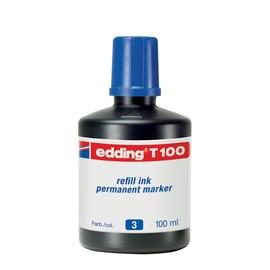 Permanentmarker-Nachfülltusche T100 100ml blau Edding 4-T100003 Produktbild