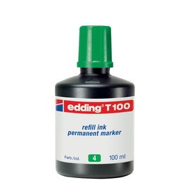 Permanentmarker-Nachfülltusche T100 100ml grün Edding 4-T100004 Produktbild