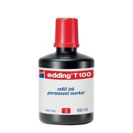 Permanentmarker-Nachfülltusche T100 100ml rot Edding 4-T100002 Produktbild
