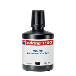 Permanentmarker-Nachfülltusche T100 100ml schwarz Edding 4-T100001 (ST=100 MILLILITER) Produktbild