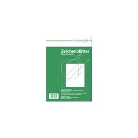Zeichenblätter A3 29,7x42,0cm quer mit Rand + Schriftfeld 190g weiß holzfrei Hahnemühle 10624632 (PACK=20 BLATT) Produktbild