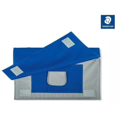 Zeichenplatten-Tasche mit Schultergurt + Griff A4 blau Nylon Staedtler LR66114 Produktbild Front View L