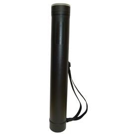 Zeichenrollen-Köcher verstellbar ø 80mm 620-1050mm abnehmbarer Schraubdeckel schwarz PE Rumold ZR 6611 Produktbild